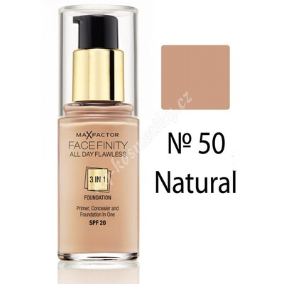 Max Factor Facefinity All Day Flawless 3v1 Make up Natural č.50