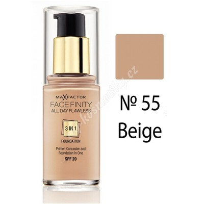 Max Factor Facefinity 3v1 All Day Flawless make-up 55 Beige 30 ml