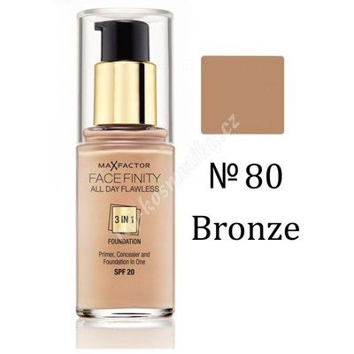 Max Factor Facefinity 3v1 All Day Flawless make-up 80 Bronze 30 ml