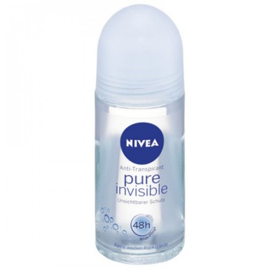 Nivea Pure Invisible roll-on kuličkový anti-perspirant 50 ml